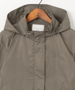 自由区 L 【UNFILO】バイカラー ダブルクロス フーデッドジャケット(検索番号UD22) モカ