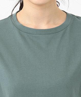 any FAM 【オーガニックコットン】オーガビッツバックロゴ Tシャツ ライトグリーン系