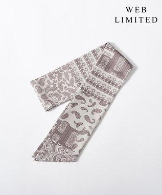 J.PRESS LADIES 【WEB限定】濡らしてひんやり冷感COOL スカーフ ベージュ系5