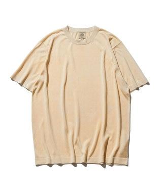 J.PRESS MEN ニット シルクTシャツ アイボリー系