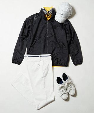 23区GOLF 【MEN/日本製/吸汗速乾/UV】ハイストレッチ鹿子 シャツ イエロー系