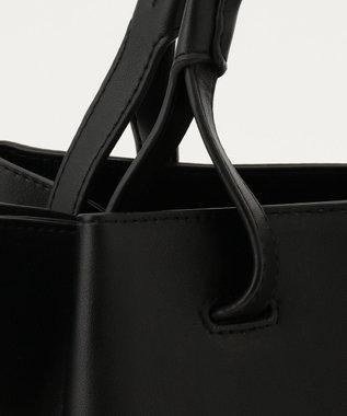23区 【マガジン掲載】DENIM PROJECT フェイクレザーコンビ トートバッグ(番号2K54) ブラック系