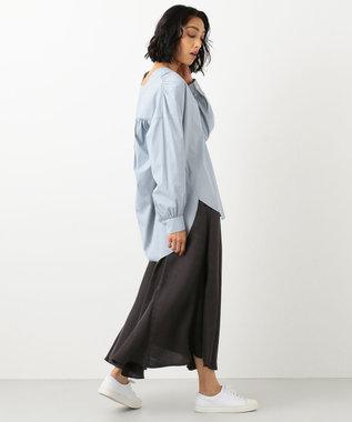 #Newans 【マガジン掲載】SOPHIE/ カフタンカラーシャツ(番号NF49) ブルーグレー系