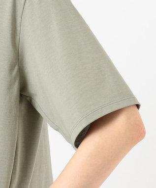 JOSEPH 【洗える】プレーティングジャージ Tシャツ モスグリーン系