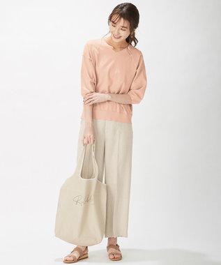 J.PRESS LADIES L 【洗える】PRINCESS Vネック ニット ピンク系
