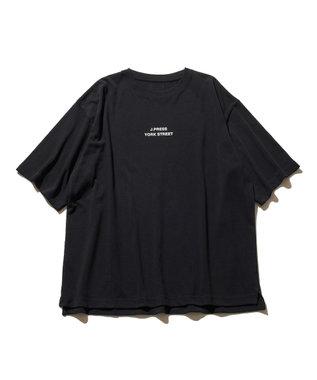 J.PRESS YORK STREET 【UNISEX】ロゴプリント Tシャツ ブラック系