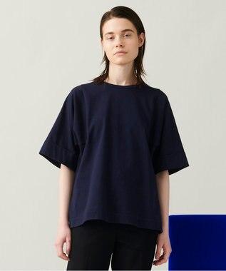 JOSEPH 【 柚香 光さん着用・洗える】スクエアジャージー Tシャツ ネイビー系