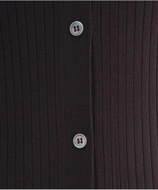 #Newans 【新色登場!】ストレッチリブロングカーディガン ダークブラウン系