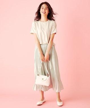 any FAM L 【定番人気】【UVケア】プレミアムベーシック Tシャツ ベージュ系