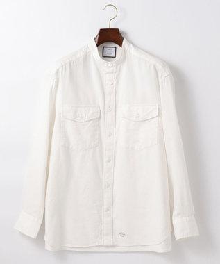 【UNISEX】ライトツイル バンドカラーシャツ