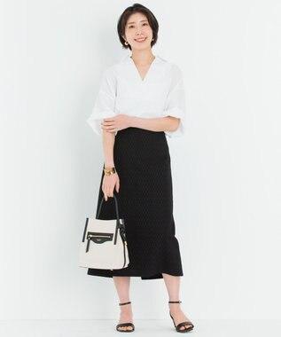 23区 【一部店舗限定】LIBECO スキッパー シャツ ホワイト系
