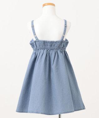 any FAM KIDS デニムキャミ ワンピース ブルー系