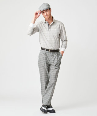 DAKS GOLF 【MEN】モードグラフチェック ポロシャツ ホワイト系3