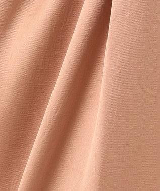 組曲 L 【洗える】サテン ワイドパンツ ピンク系