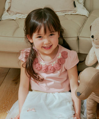 any FAM KIDS 接触冷感チェリー Tシャツ ピンク系