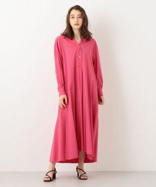#Newans 【マガジン掲載】KATIE/ オープンカラーワンピース(番号NF26) ピンク系