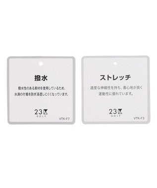 23区GOLF 【WOMEN】エンボス加工 ストライプブルゾン ネイビー系2