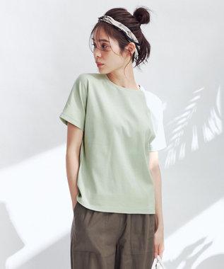 any FAM L 【定番人気】【UVケア】プレミアムベーシック Tシャツ ピーコックグリーン系