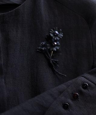 AND WOOL 【カモミールの花】ブローチ ブラック