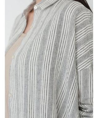 AMERICAN HOLIC リネンブレンドオーバーシャツ Stripe