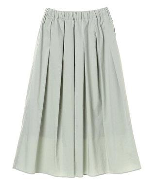 YECCA VECCA ペーパーライクコットンタックギャザースカート Mint