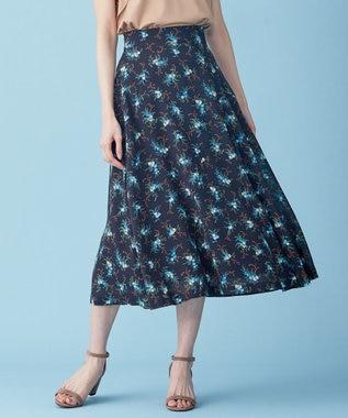 【Rythme KUMIKYOKU】アンティークフラワープリント スカート