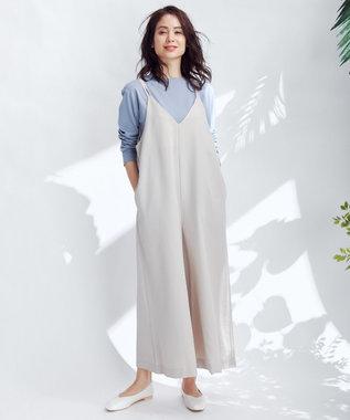 any FAM L USAコットン裾テール  ロングTシャツ スカイブルー系