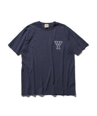 J.PRESS MEN 【J.PRESS×YALE】アスレチッククルーネック Tシャツ ネイビー系