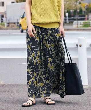 ICB L 【マガジン掲載】Shadow Flower 2WAY ロングスカート(番号CM22) カーキ系5