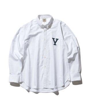 J.PRESS MEN 【J.PRESS×YALE】オックスフォードオーセンティック ボタンダウンシャツ ホワイト系