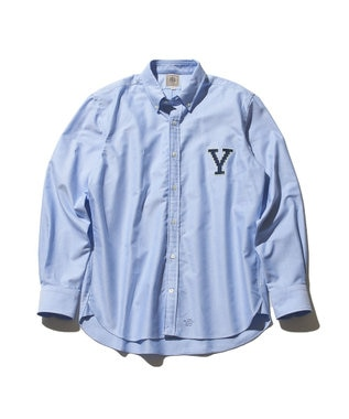 J.PRESS MEN 【J.PRESS×YALE】オックスフォードオーセンティック ボタンダウンシャツ サックスブルー系1