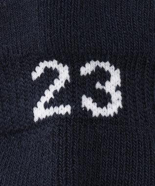 23区GOLF 【WOMEN】マルチボーダー アンクルソックス ネイビー系