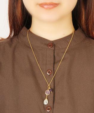 WYTHE CHARM 【4月誕生石】クリスタル×パープルネックレス クリア