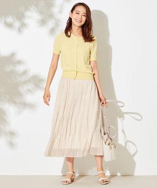 any SiS L 【洗える】刺繍風ミニフラワープリント スカート アイボリー