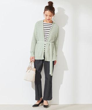 any SiS L 【洗える】タックスプリング カーディガン ミント