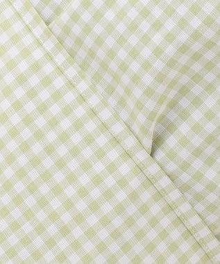 J.PRESS LADIES 【洗える】BEZ コットンリネン ギンガム ブラウス ライトグリーン系3