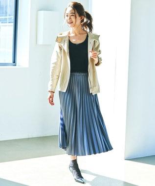 23区 S 【中村アンさん着用】ライトタッサー フーデットジャケット(番号2D34) ベージュ系