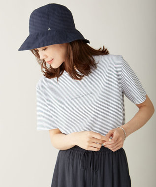 J.PRESS LADIES 【洗える・UV加工・畳める】ブレードHAT 帽子 ネイビー系