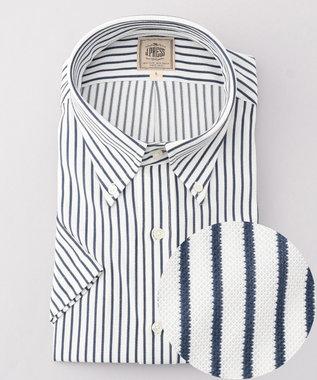 【J.PRESS PLUS】カノコインレイボーダーパッチポケット BDシャツ