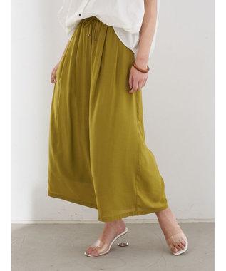 YECCA VECCA ・シルキータックワイドパンツ Yellow
