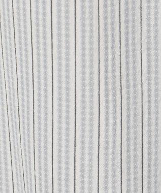 any SiS 【2WAY】シャーリングネックシアー ブラウス モノトーンストライプ