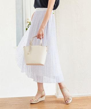 【洗える】刺繍風ミニフラワープリント スカート