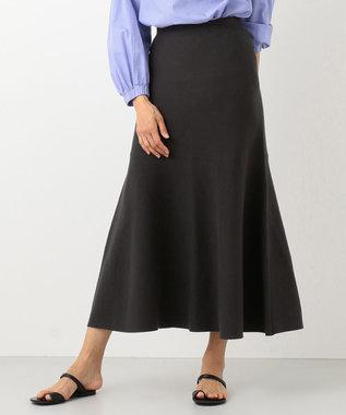 #Newans 【洗える】スムースコットンマーメイドスカート ブラック系