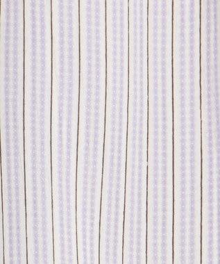 any SiS 【2WAY】シャーリングネックシアー ブラウス ラベンダーストライプ