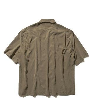 J.PRESS YORK STREET 【UNISEX】パウダーシフォン オープンカラーシャツ オリーブ