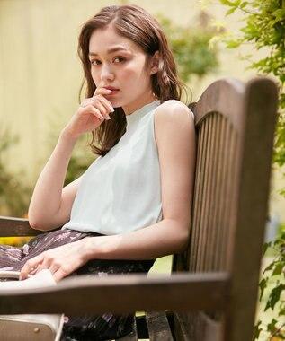 Feroux 【美人百花5月号掲載】ノースリブ ニット スカイブルー系