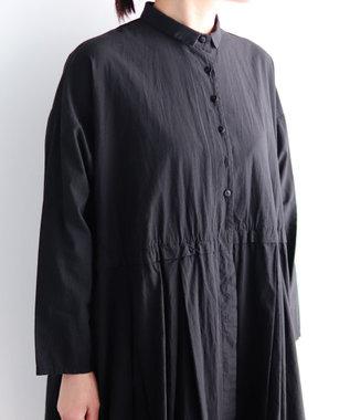 muuc 製品染めドレスコート ブラック