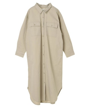 AMERICAN HOLIC 綿CPOシャツワンピース Beige