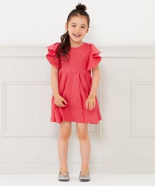 【100-140cm】カラーワンピース
