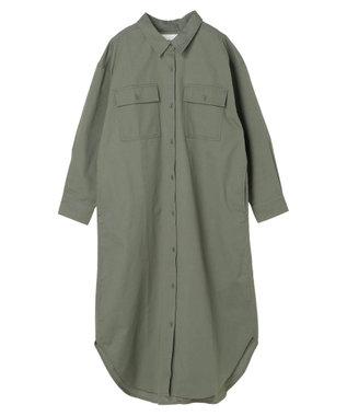 AMERICAN HOLIC 綿CPOシャツワンピース Khaki